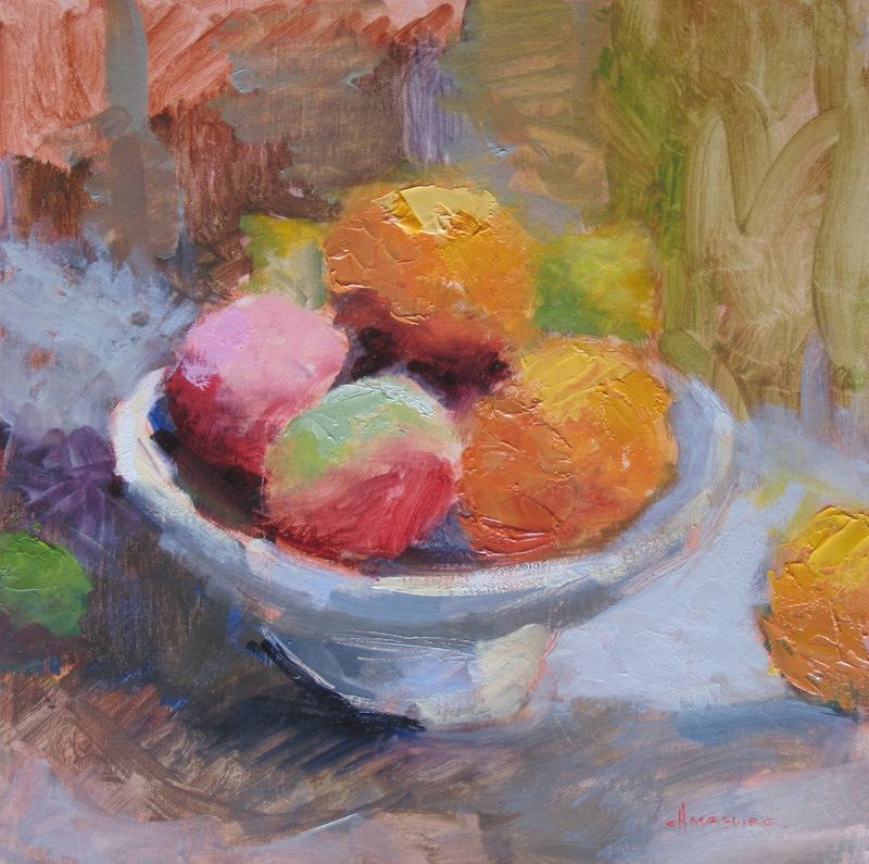 Fruit in Bowl 12x12